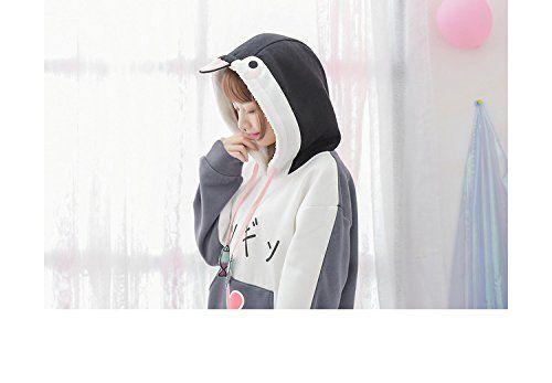 Amazon | パーカー レディース ペンギン トレーナー トップス 小魚のパターン 可愛い長袖 ゆったり ライン カジュアル | トレーナー・パーカー 通販
