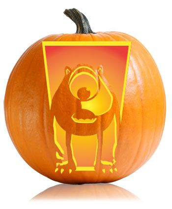 Mike wazowski pumpkin pattern disney pumpkin carving for Sully pumpkin template