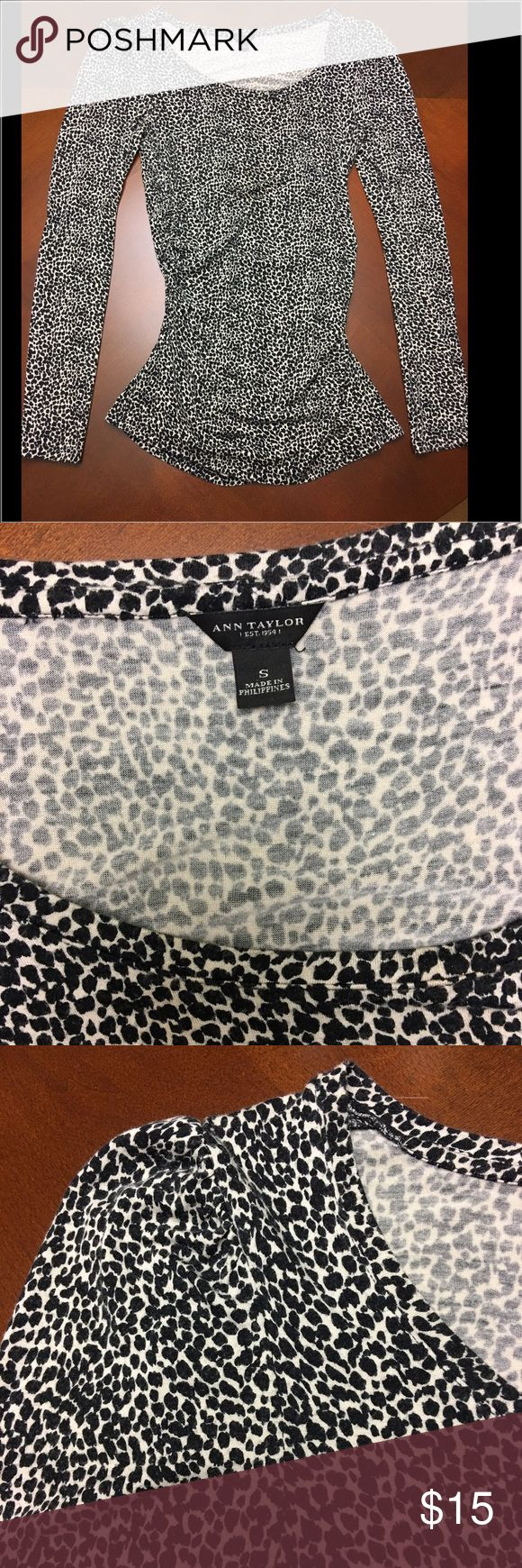 Ann Taylor animal print top Ann Taylor animal print top. Cinched on sides of waist. Fun top. Fits snug, comfortable, and sexy Ann Taylor Tops Blouses