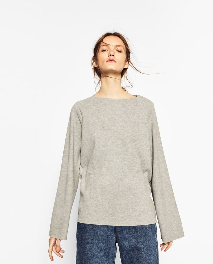 Image 2 of BELL SLEEVE SWEATER from Zara