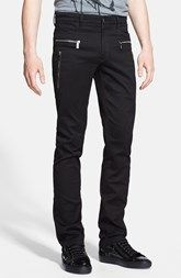 Versace Collection Trend Fit Zip Trim Pants