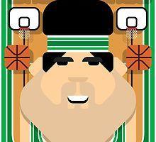 Basketball Green - Court Dunkdribbler - Victor version by boxedspaper
