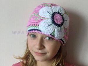 Velká květina aplikace - crochet big flower applique