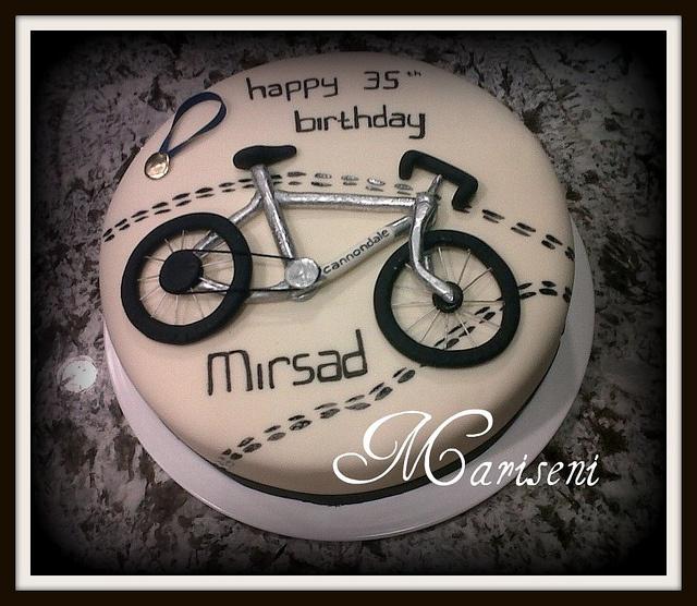 Bicycle Marathon Birthday Cake by Slice of Sweet Art - Custom Cakes, via Flickr