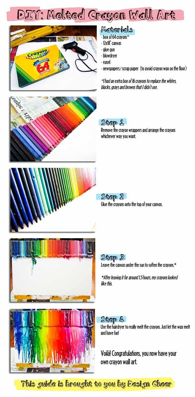 DIY: Melted Crayon Wall Art