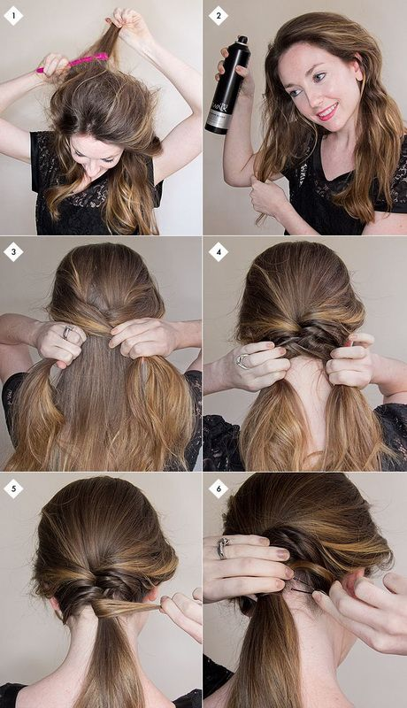 cute updo hairstyles step