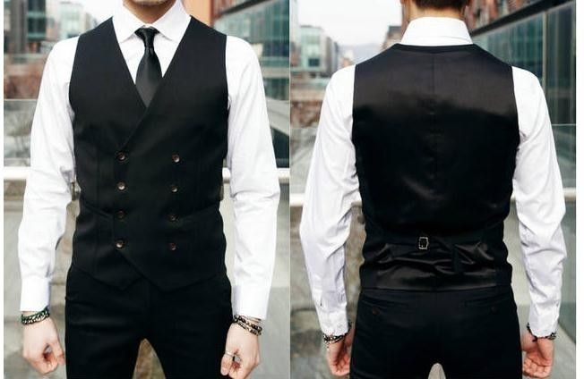 British Style Slim Double Breasted Waistcoat