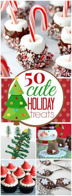 50 Cute Christmas Treat Ideas   http://www.somethingswanky.com
