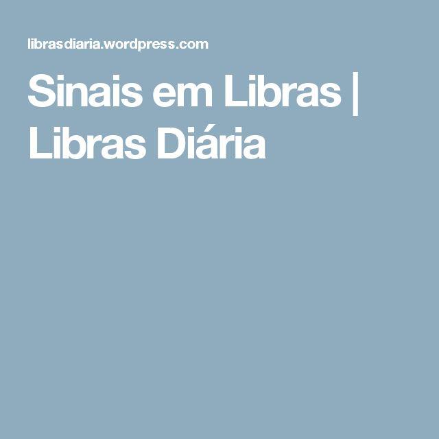 Sinais em Libras | Libras Diária