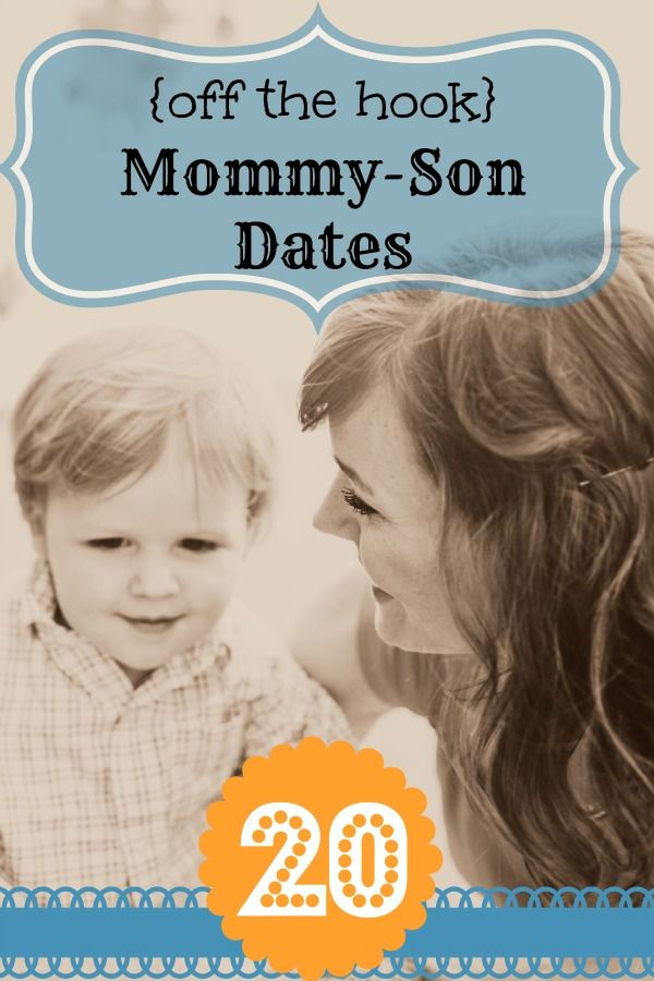 20 {Off the Hook} Mommy - Son Dates. Lots of great ideas! I love the one about taking him on a date and giving him a wallet with money to pay for the food. That would be so cute with a little guy. :-)