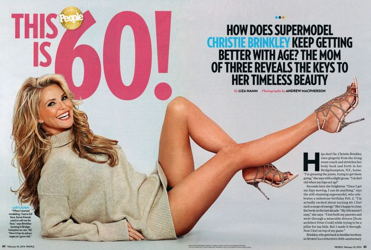 CHRISTIE BRINKLEY in People Magazine, February 2014 Issue ...
