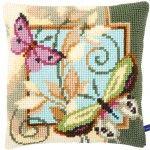 Deco Butterflies - Kruissteekkussen - Vervaco