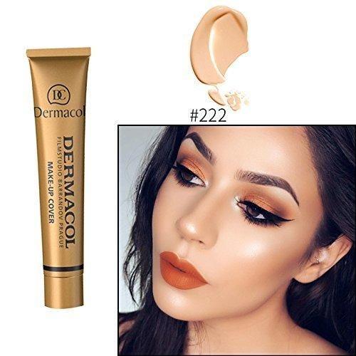 2017 Hot 13 colors 100% Original Dermacol base primer corrector concealer cream makeup base tatoo consealer face foundation contour palette 30g (#222)