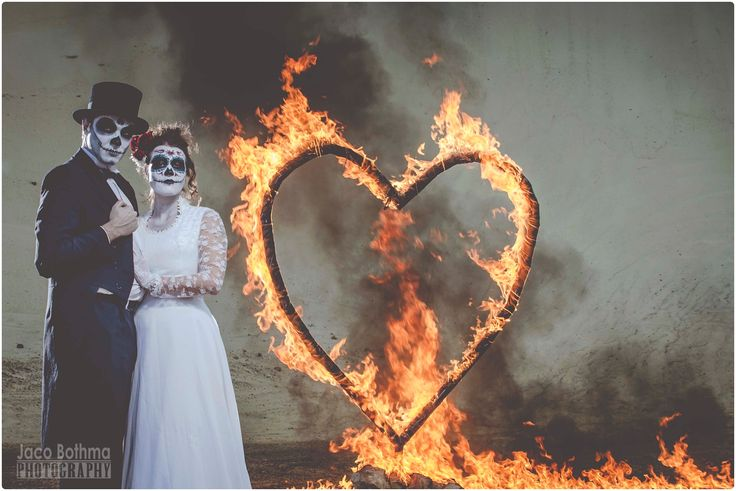 #dayofthedead #burningheart #passion #styledshoot #skullcandy #sugarskull #fire #love