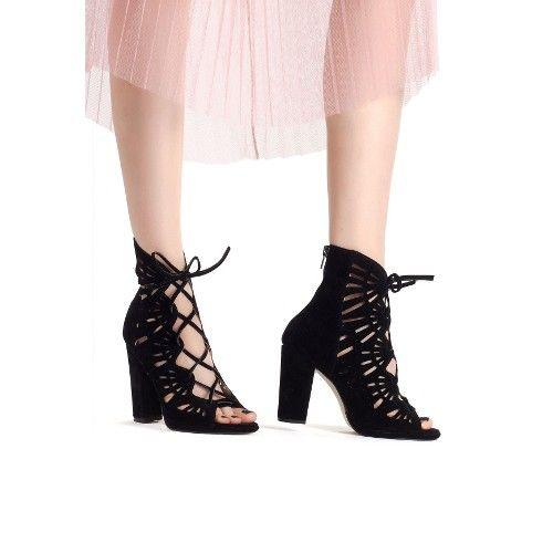Erb Siyah Süet Arkası Fermuarlı Bağcıklı Bayan Topuklu Ayakkabı 97,28 TL ve ücretsiz kargo ile n11.com'da! Erbilden Klasik Topuk fiyatı Ayakkabı
