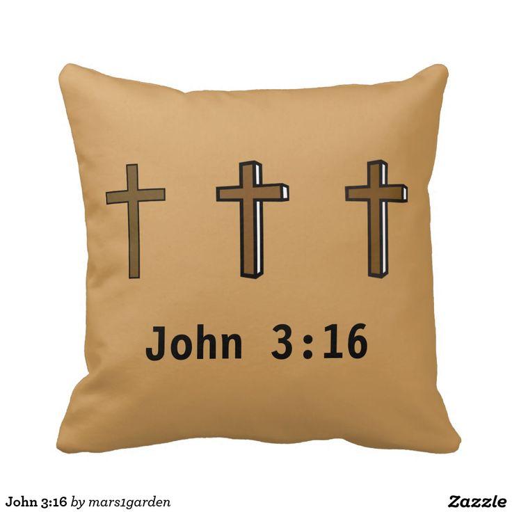16 easter gifts pinterest john 316 pillow negle Images