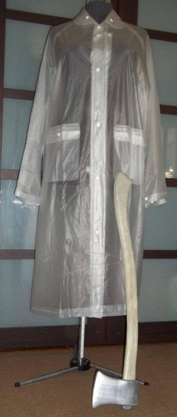 American Psycho Costume Patrick Bateman S Clear Vinyl Rain Coat