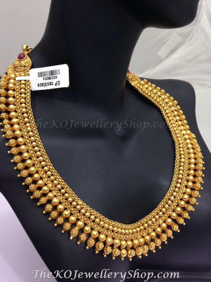 south indian temple jewelry gold plated - http://thekojewelleryshop.com.