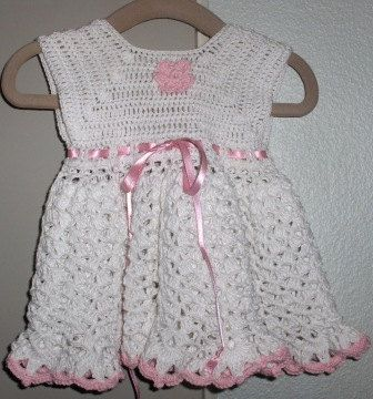 New handmade dress in crochet 0/3 months by Hildescrochetshop on Etsy