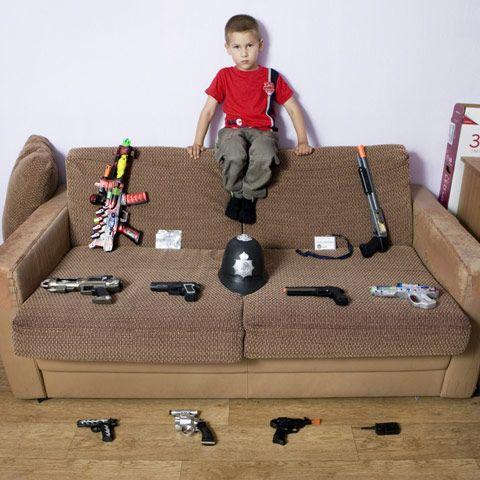 Photos of children with their favorite stuff: Ukrainian Boy gabriele_galimberti_photography