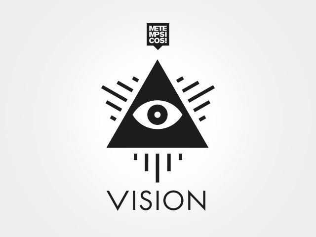 Logo and communication design for Metempsicosi's Vision event series.
