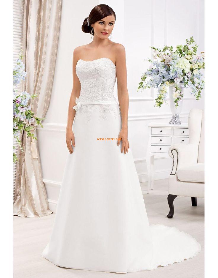 A-line Organza Eté Robes de mariée 2014