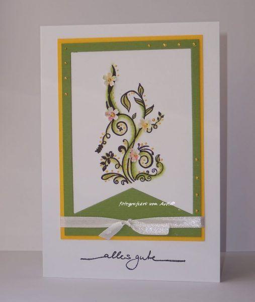 Karten-Kunst Clear Stamps Alte Schnörkel und Alles Gute, Pearl Maker  #Karten-Kunst #kartenkunstshop #kartenbasteln #cardmaking #papercraft #kartendesign  #stempel #stamping #Schnörkel
