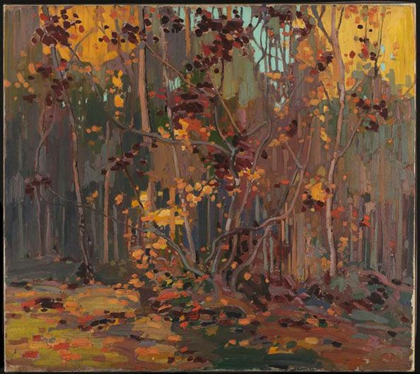 Tom Thomson, Maple Saplings, October, 1916-17 (source).