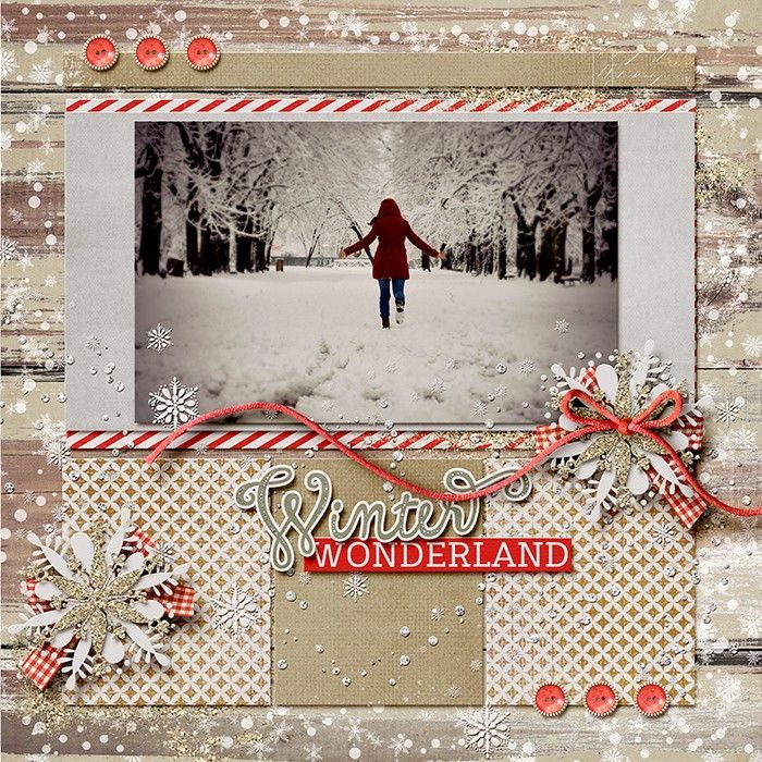 Photo Page: Layout Using {Winter Sparkle} Digital Scrapbook Kit By Red