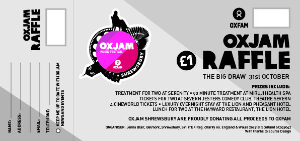 Oxjam Raffle Ticket