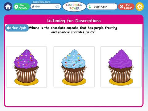 Listening Power Grades K-3 HD ($19.99) for children at a language age of 5 through 10 or any child learning English. Does your child need practice listening or working on receptive language concepts? Is auditory processing of language concepts difficult? Listening Power K-3 was designed for children with delayed language comprehension, AD/HD, weak listening or auditory processing, autism, and English language learners but ANY child can enjoy these fun activities to strengthen listening!