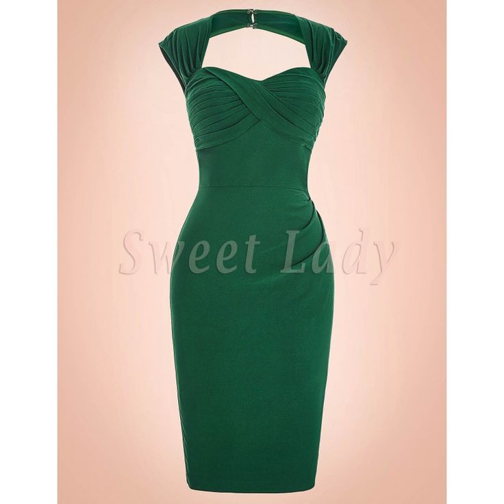 Úzke zelené vintage šaty