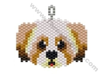 Lasso Apso Dog Pendant Bead Pattern By ThreadABead