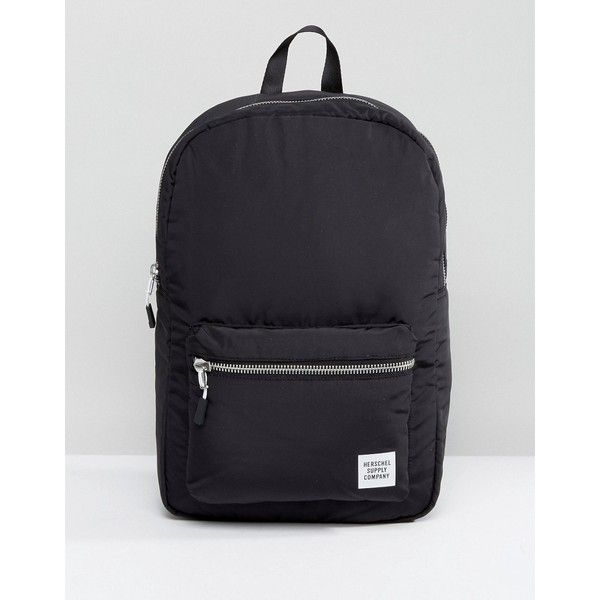 Herschel Supply Co. Settlement Backpack in Black ($72) ❤ liked on Polyvore featuring bags, backpacks, black, top handle bags, shopping bag, travel rucksack, backpack travel bag and herschel supply co backpack
