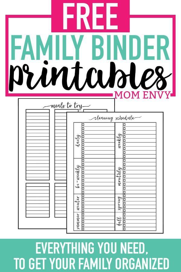 Home Organization Printables Free Printable Home Organization Worksheets Family Binder Free Printables Free Printables Organization Binder Printables Free