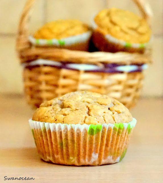Gluten free oat muffins with sesame spread-Muffins βρώμης με ταχίνι χωρίς γλουτένη