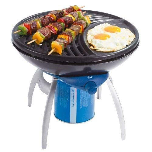 Multifunctioneel gaskooktoestel: een goed alternatief voor traditionele kooktoestellen en barbecues. Biedt verschillende mogelijkheden: grillen, op een plaat bakken of koken.