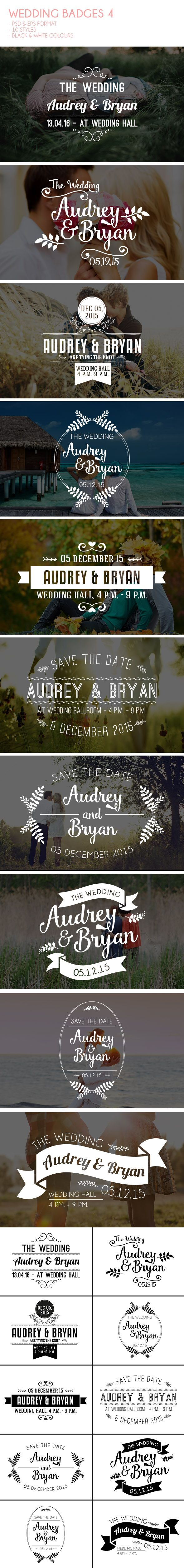 It is a wedding badges for your wedding web purposes or you can use it as Save The Date card, just simply put it in your images. Available on PSD and EPS vector format, all you need to do is just change text. I you like it and find it useful click on the link provided. :)