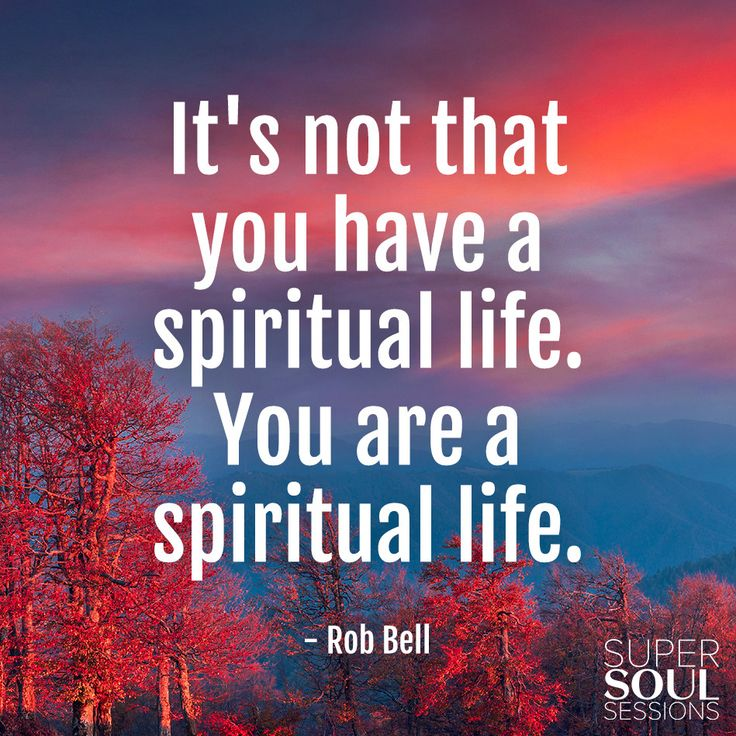 "Quote about Spiritual Life - Rob Bell       ""It"
