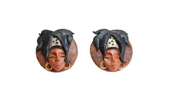 African stud earrings, Afro earrings, Hip Hop, Music earrings, Black girl stud earrings, Lauryn Hill earrings, Hip Hop jewelry, Afro hair