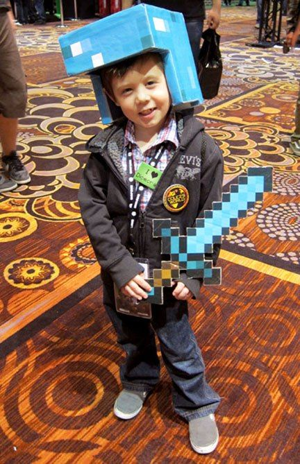 news 20 amazing minecraft costumes at minecon 2011