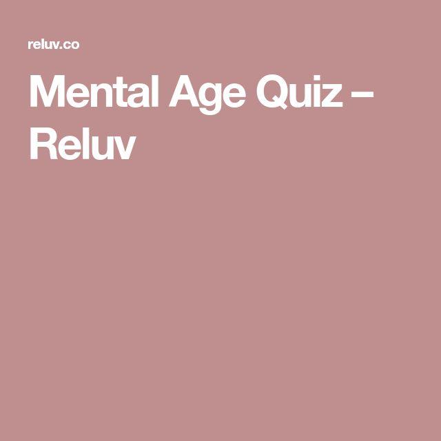 Mental Age Quiz – Reluv