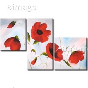 Amapolas rojas - cuadro decorativo, cuadros de amapolas - Bimago