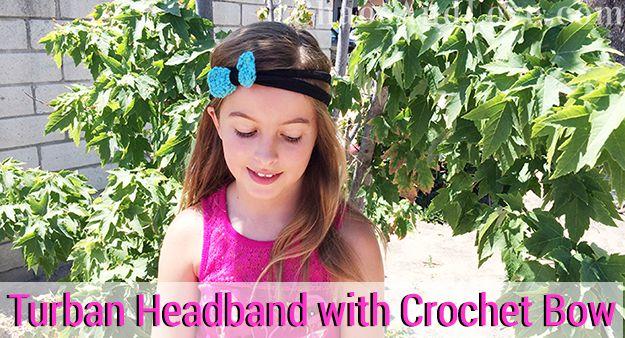 Turban Headband Tutorial on Club Chica Circle | chaosandlove.com #crochet #tutorial #craft