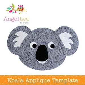 applique templates koalas and templates on pinterest. Black Bedroom Furniture Sets. Home Design Ideas