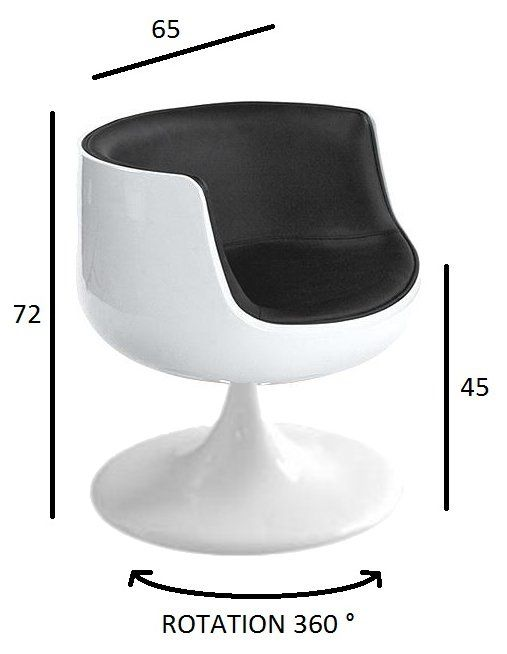 Fauteuil Design CUP Blanc