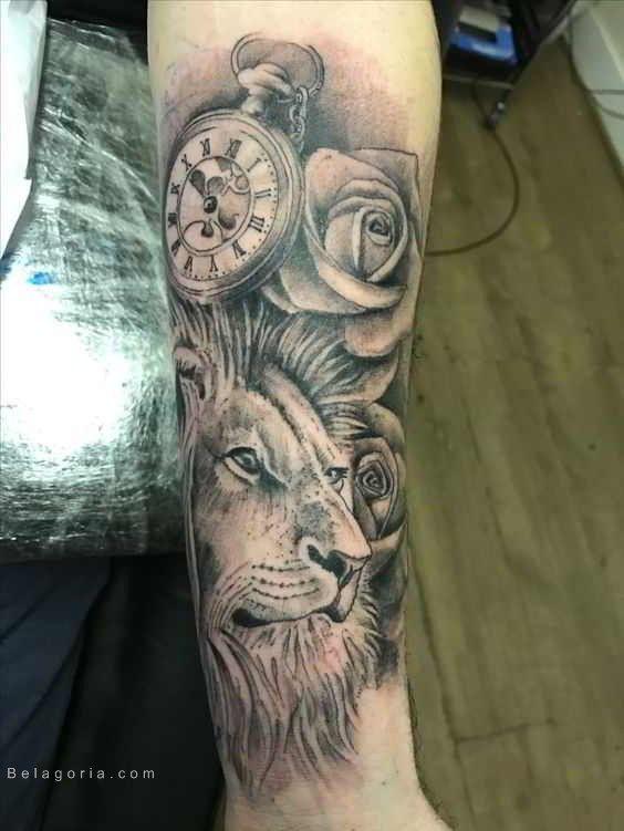 Imagen De Un Tatuaje De León Para Mujer Mangas Tatuajes Pierna