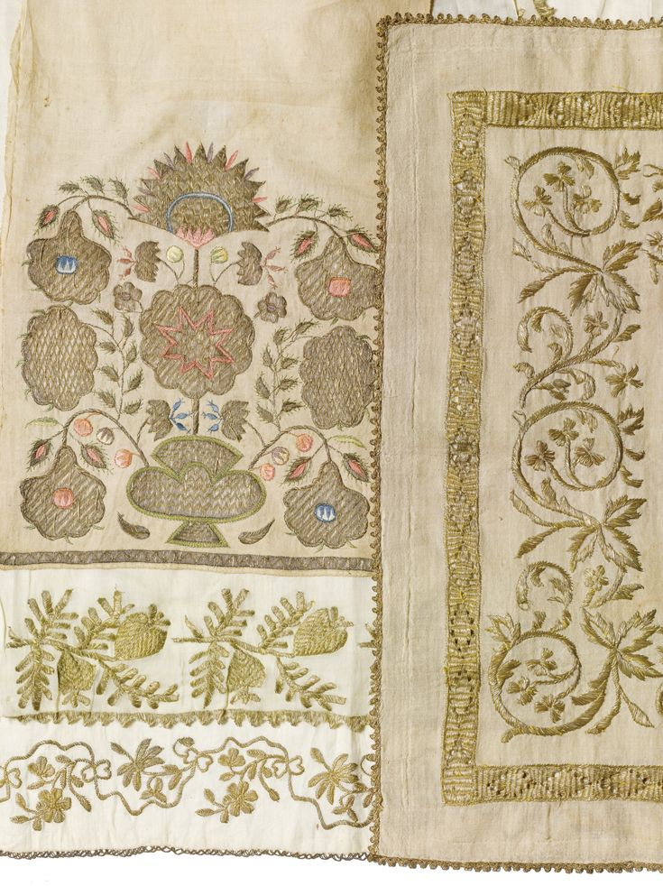 'Silver and Metal Thread Decoration' , A Group of Ottoman Towels and Embroideries | lot | Sotheby's