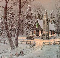 Free Christmas Houses Clipart Graphics and Images