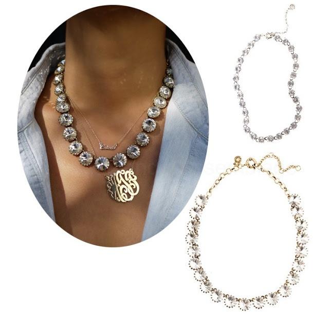 Oooh! I think I am gonna get crafty! :)  A Splendid Assemblage: DIY: J.Crew Inspired Crystal Necklace